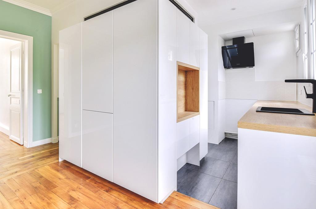 Rénovation complète d'un appartement haussmannien de 50 m²